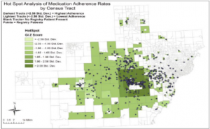 Geographic analysis of drug compliance